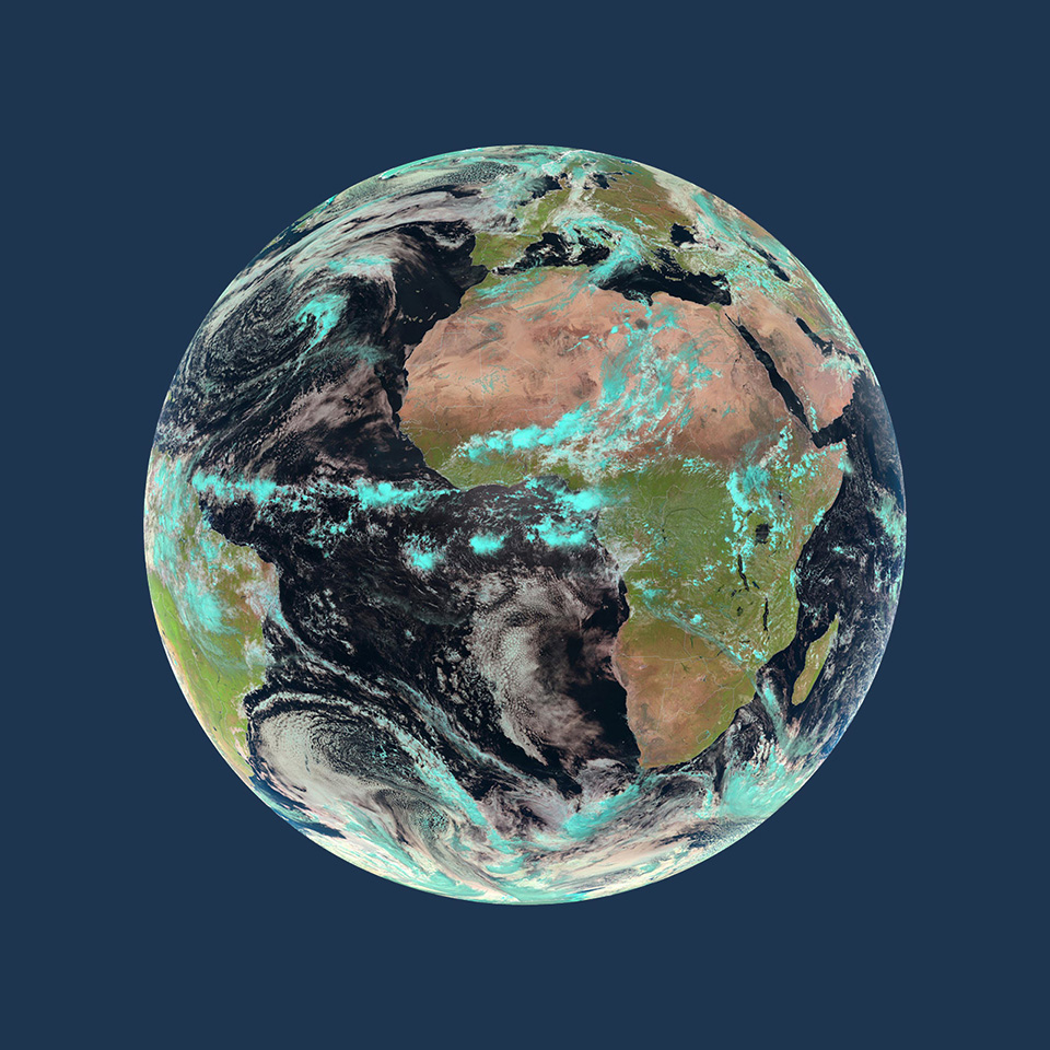 EUMETSAT Spacecraft - World satellite map 2014