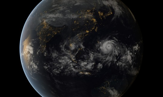 Super Typhoon Haiyan Approaching the Philippines