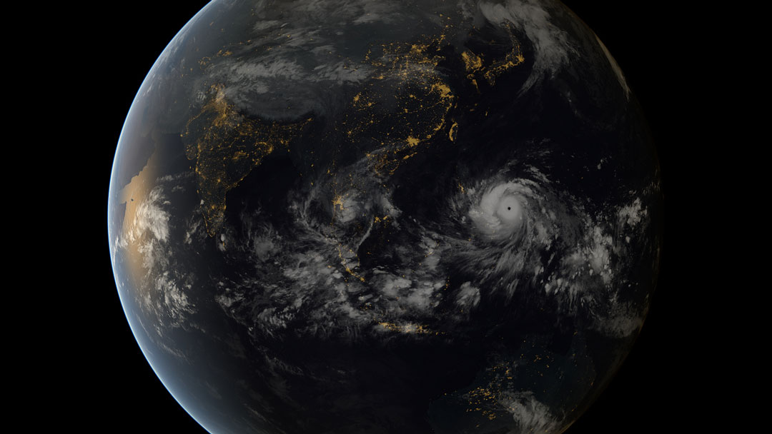 image of typhoon haiyan