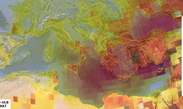 Tracking bad ozone around Europe and the Mediterranean