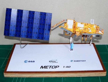 Metop Satellite Paper Model – Detailed